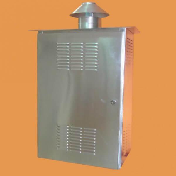 Casa de proteção em alumínio p/ aquecedores